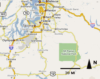 Mt Ranier Location