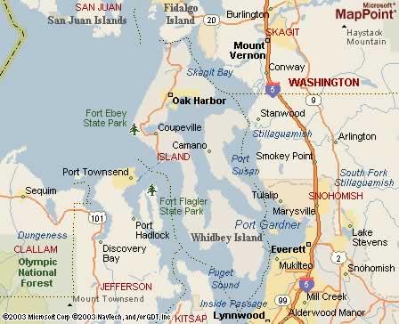 South Whidbey Island Washington Map