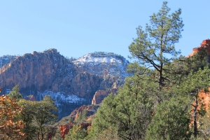 Snow in Oak Creek Canyon