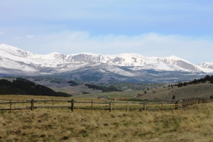 Snow covered Bighorn Mountains