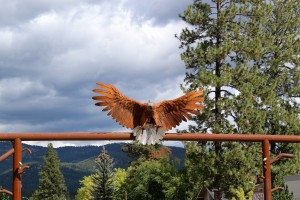 Libby MT eagle sculpture
