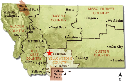 Montana State Map With Cities And Towns.Top 10 Towns To Visit 1 Bozeman Montana Strayer Travels More